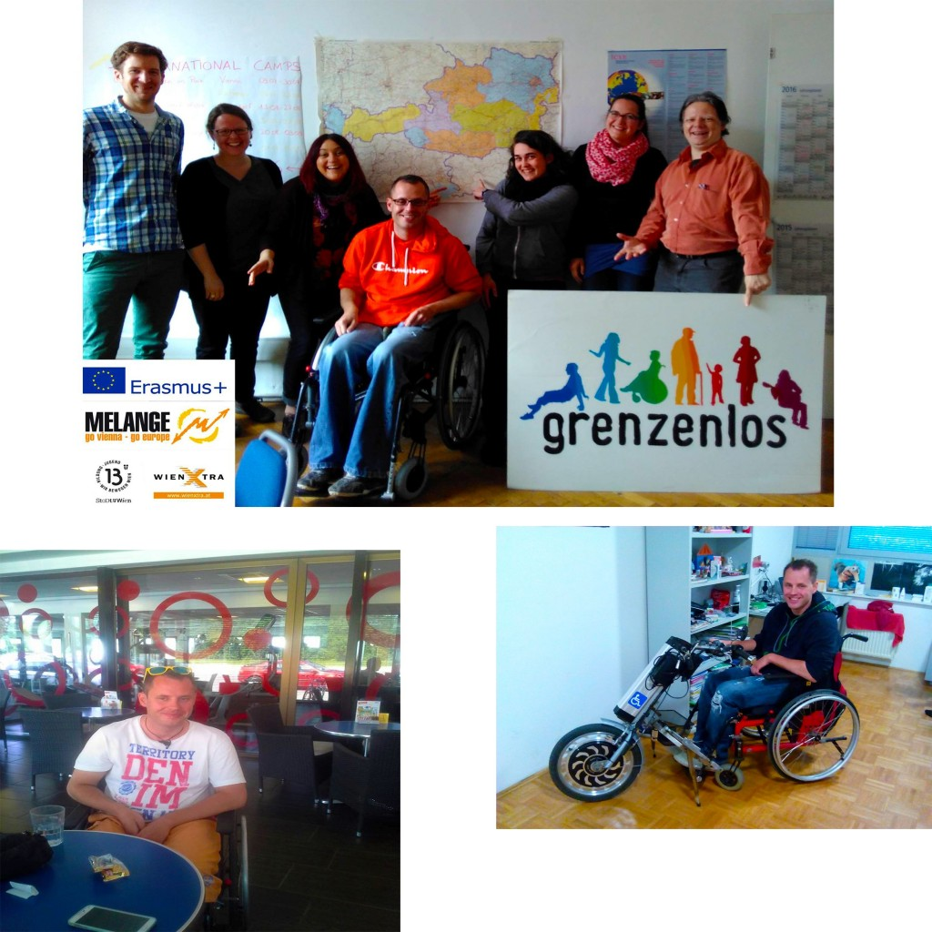 Beno with the Grenzenlos-Team